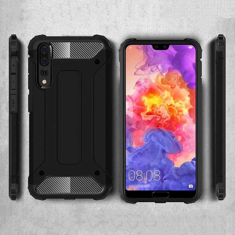sale retailer 0c839 5beb9 Military Defender Shockproof Case - Huawei P20 Pro (Black)